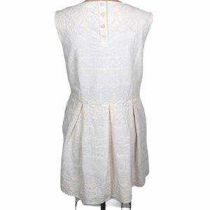 Anine Bing Dresses - Anine Bing cream embroidered sleeveless dress